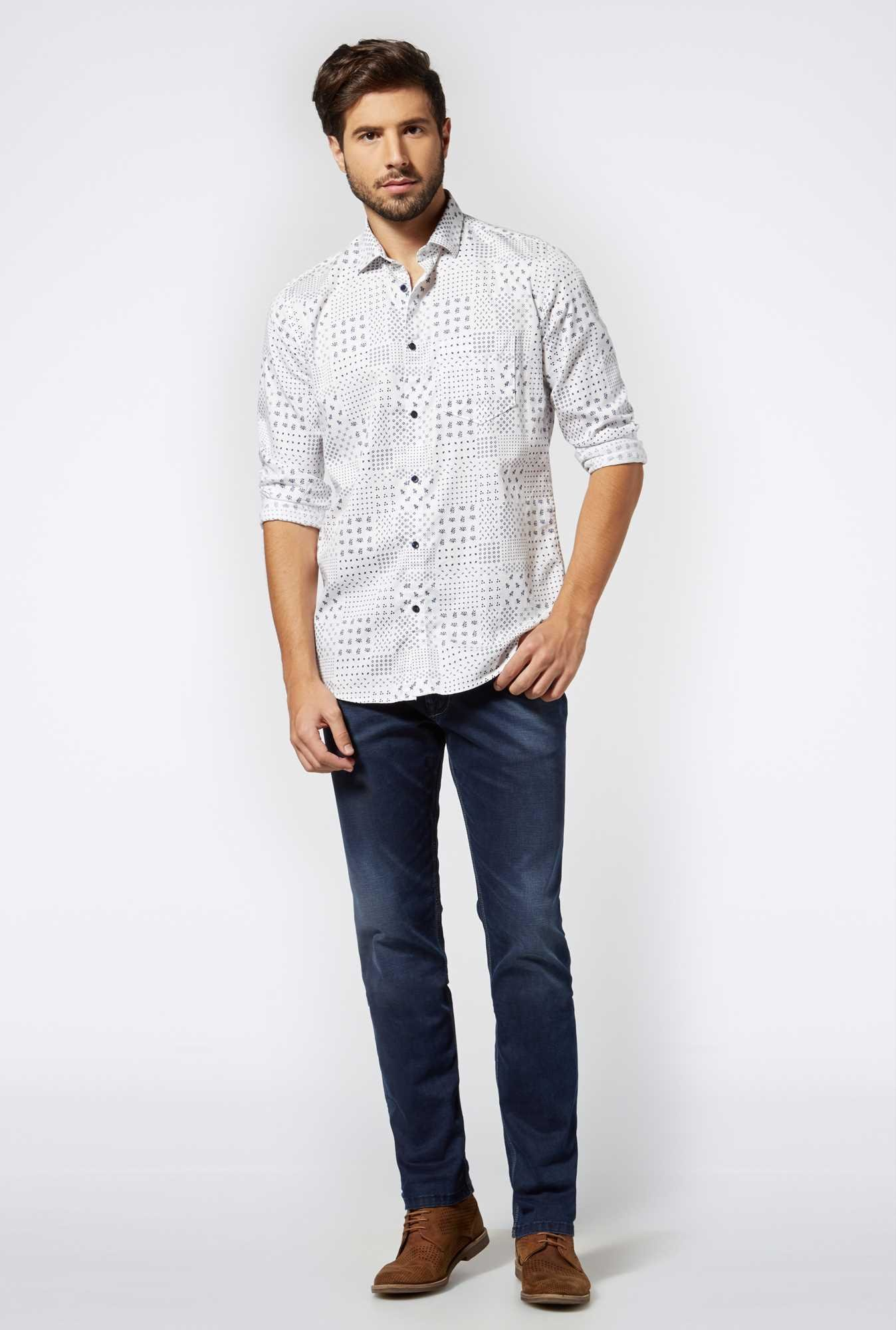 Easies Mauve Cotton Casual Shirt
