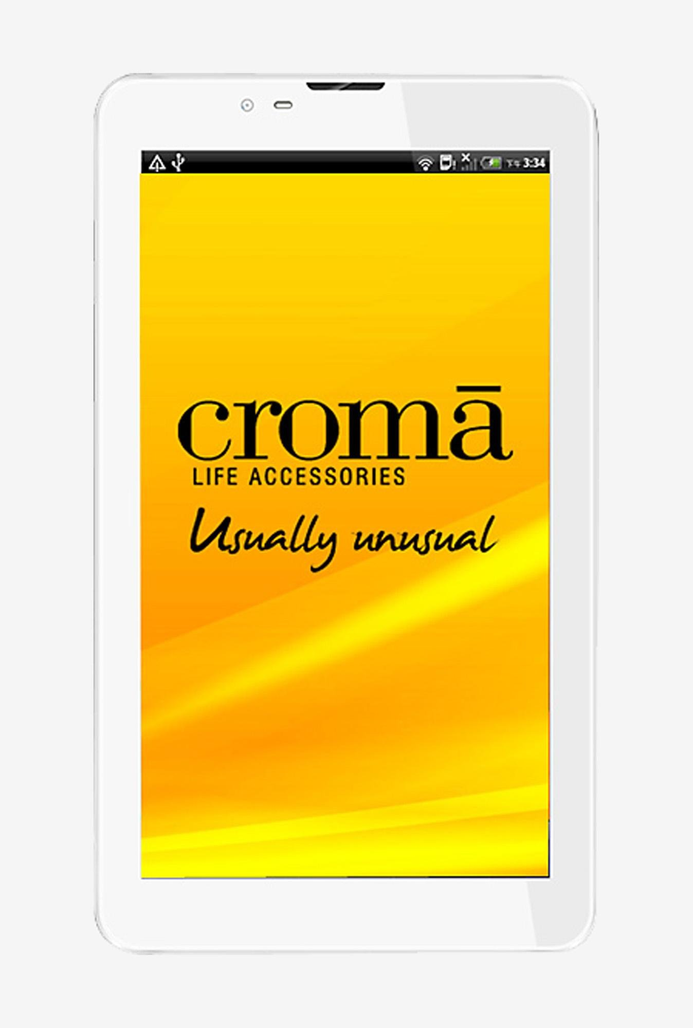 Croma CRXT1125 7-inch 4GB 3G Tablet (White)