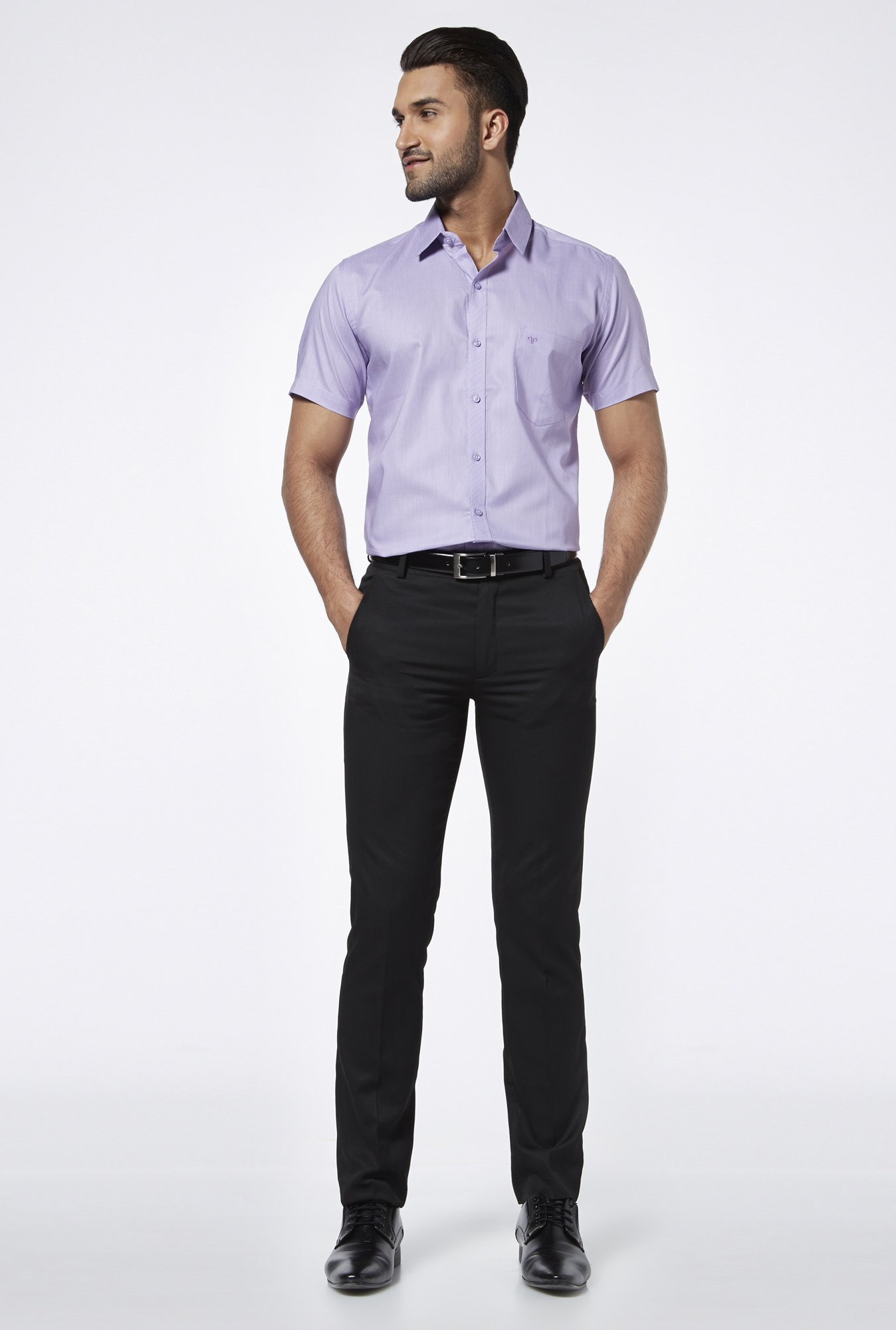 Provogue Purple Regular Fit Shirt