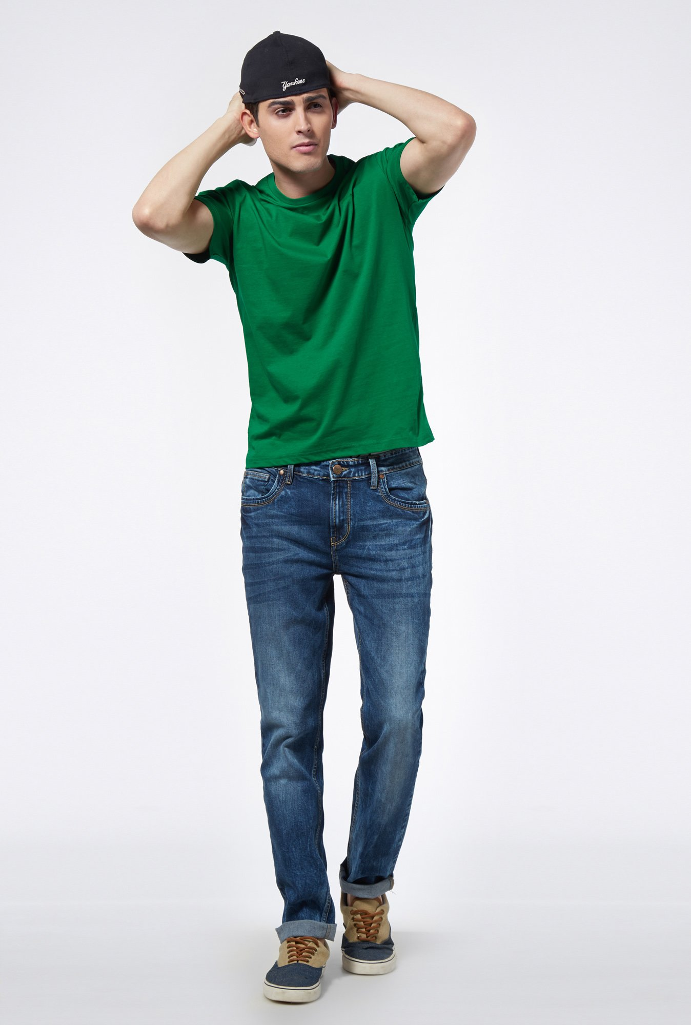 Provogue Green Crew T Shirt