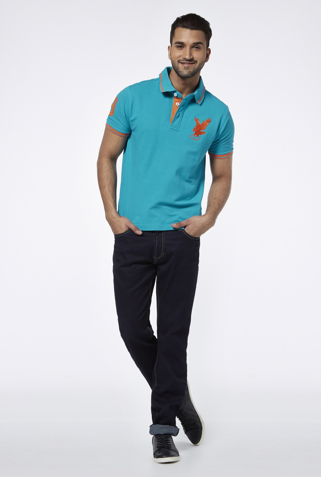 Provogue Sea Green Polo T Shirt