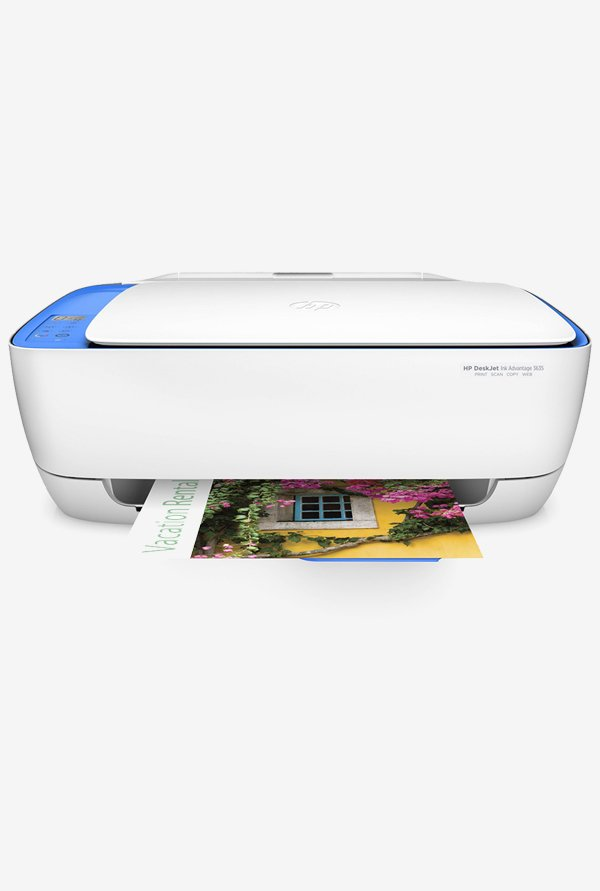 HP DeskJet Ink Advantage 3635 All-in-One Inkjet Printer (White)
