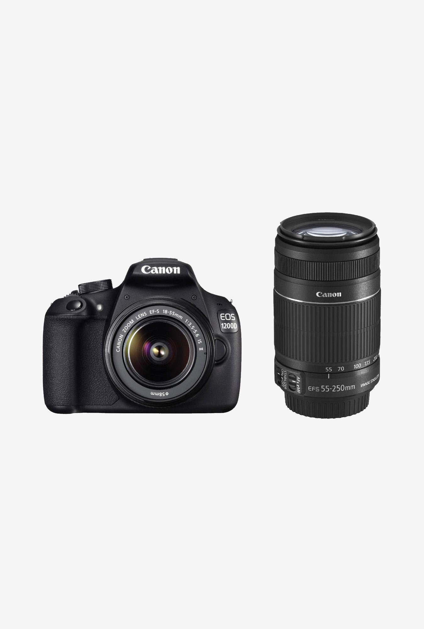 Canon EOS 1200D with (18-55 & 55-250 IS II Lens) DSLR Camera