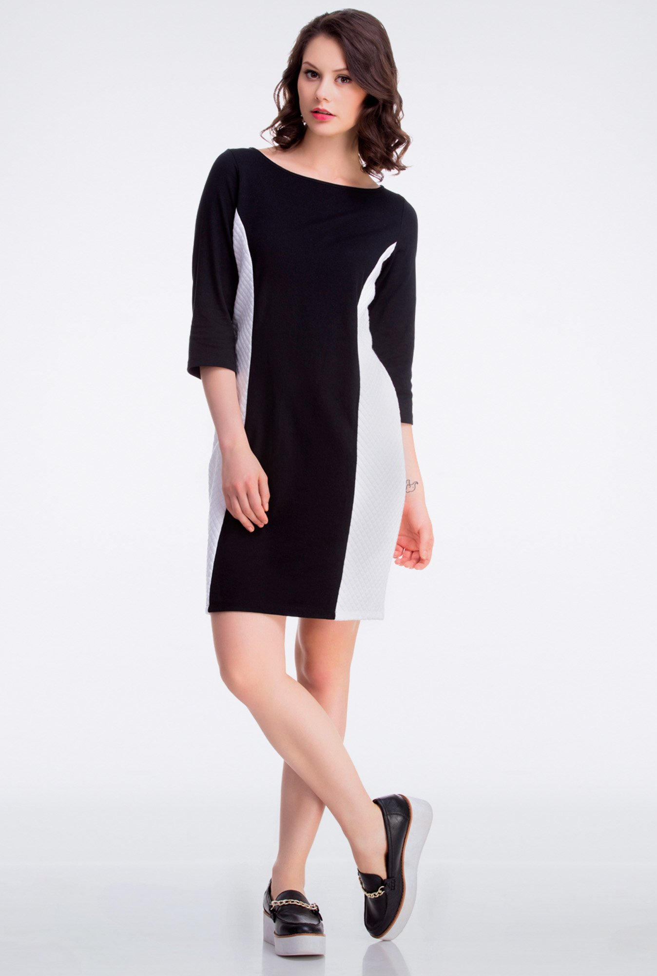 Femella Black Quilted Cotton Dress