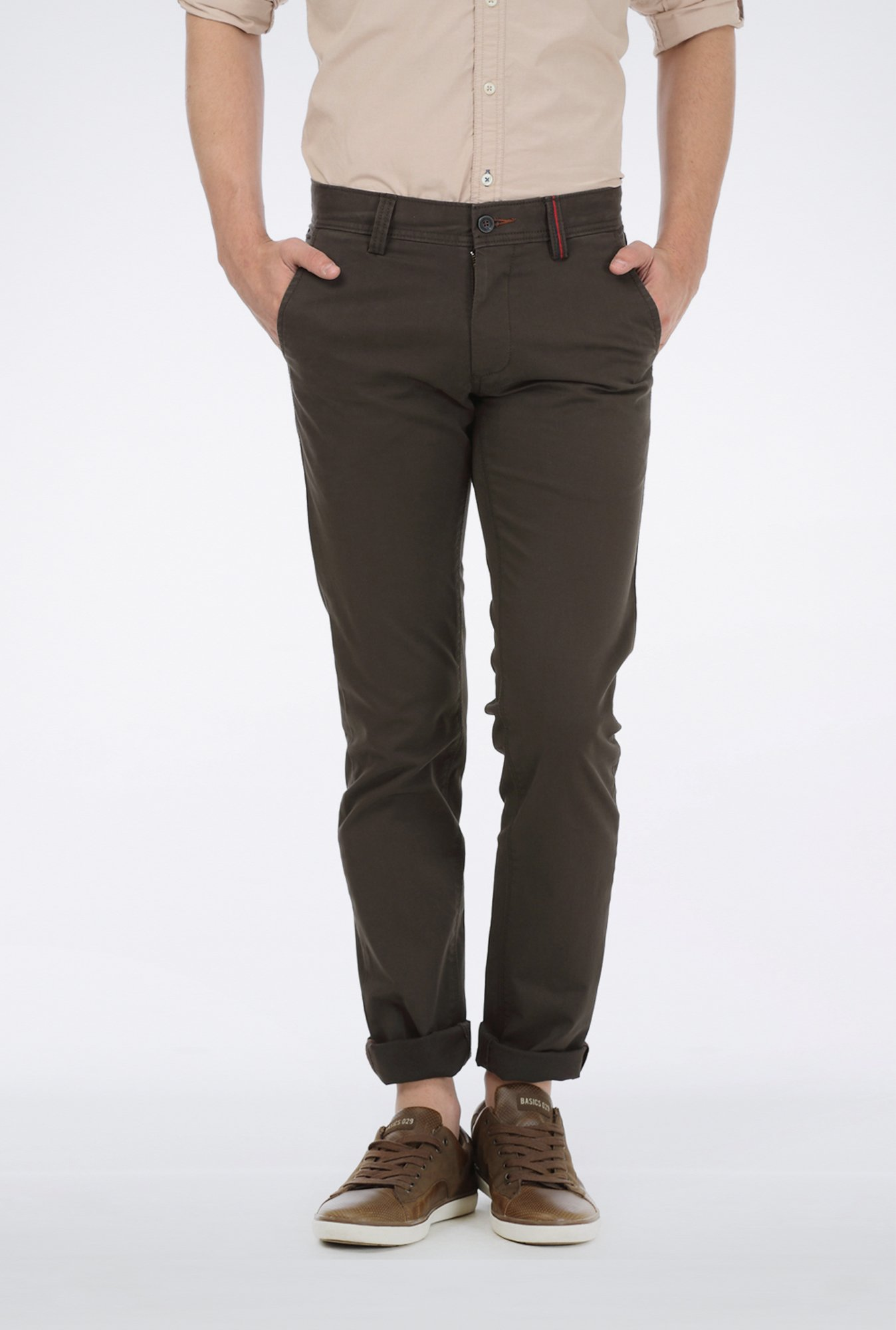 Basics Dark Grey Casual Trouser