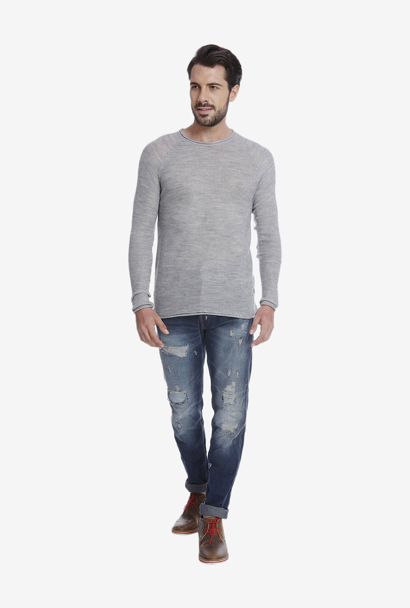 Jack & Jones Grey T Shirt