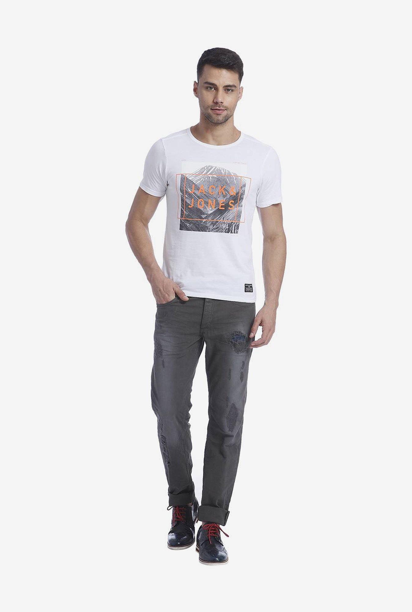 Jack & Jones White Graphic T Shirt