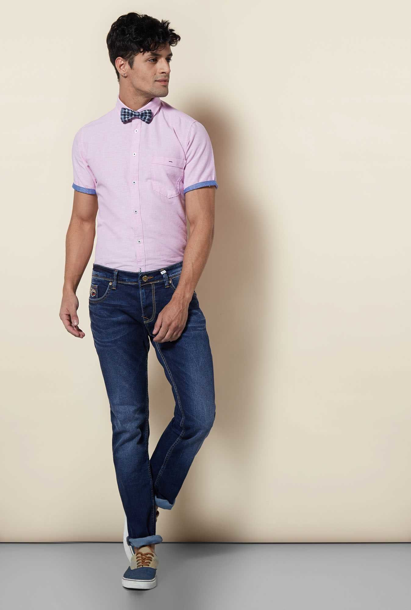Lawman Light Pink Short Sleeve Casual Shirt