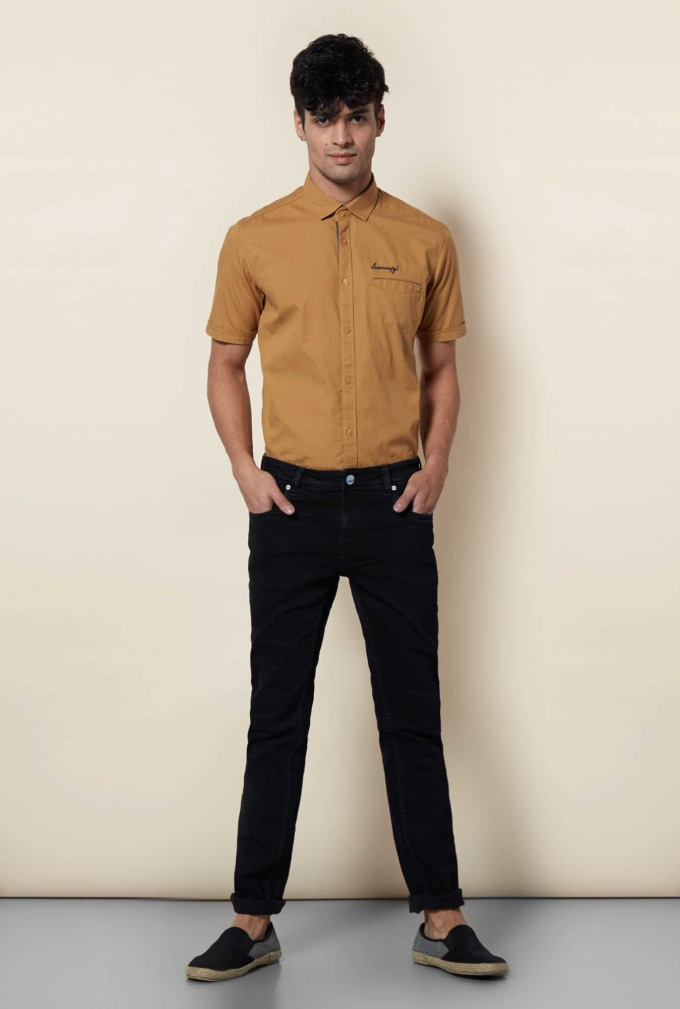 Lawman Khaki Short Sleeve Casual Shirt
