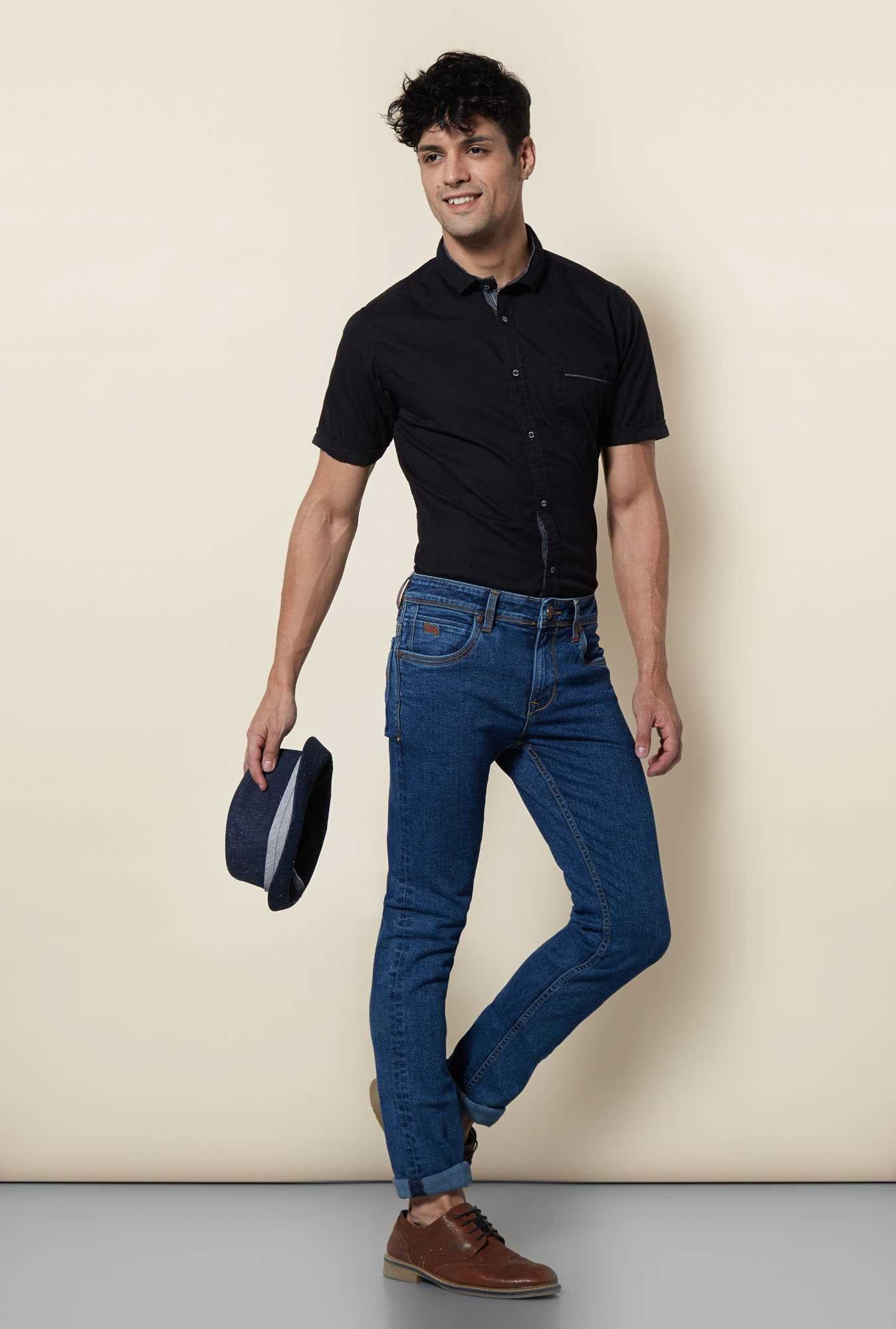 Lawman Black Short Sleeve Casual Shirt