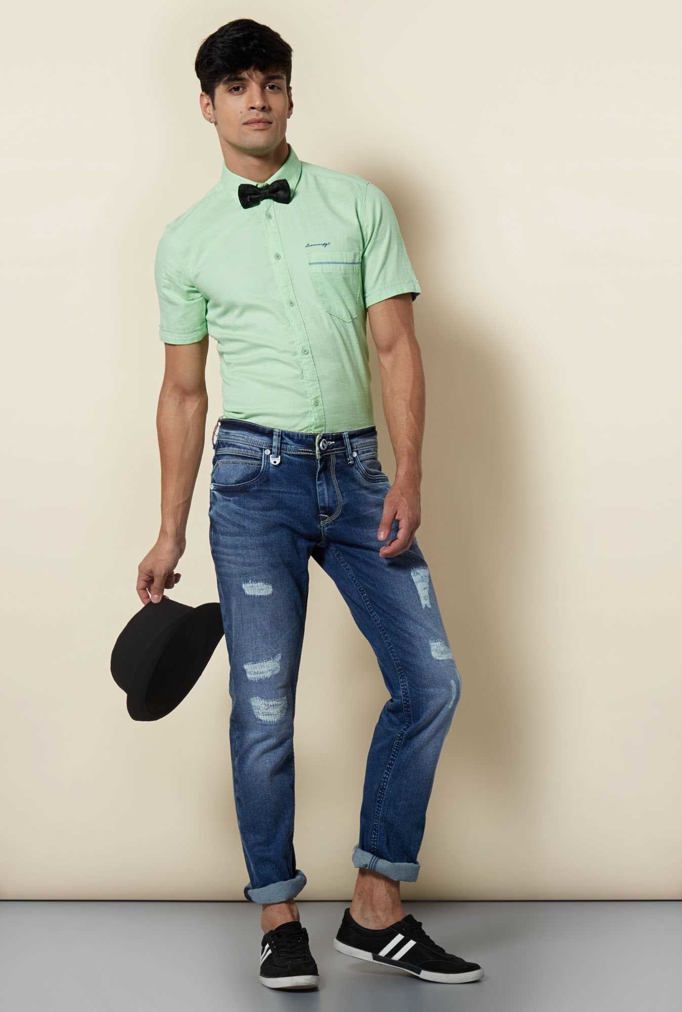 Lawman Green Short Sleeve Casual Shirt