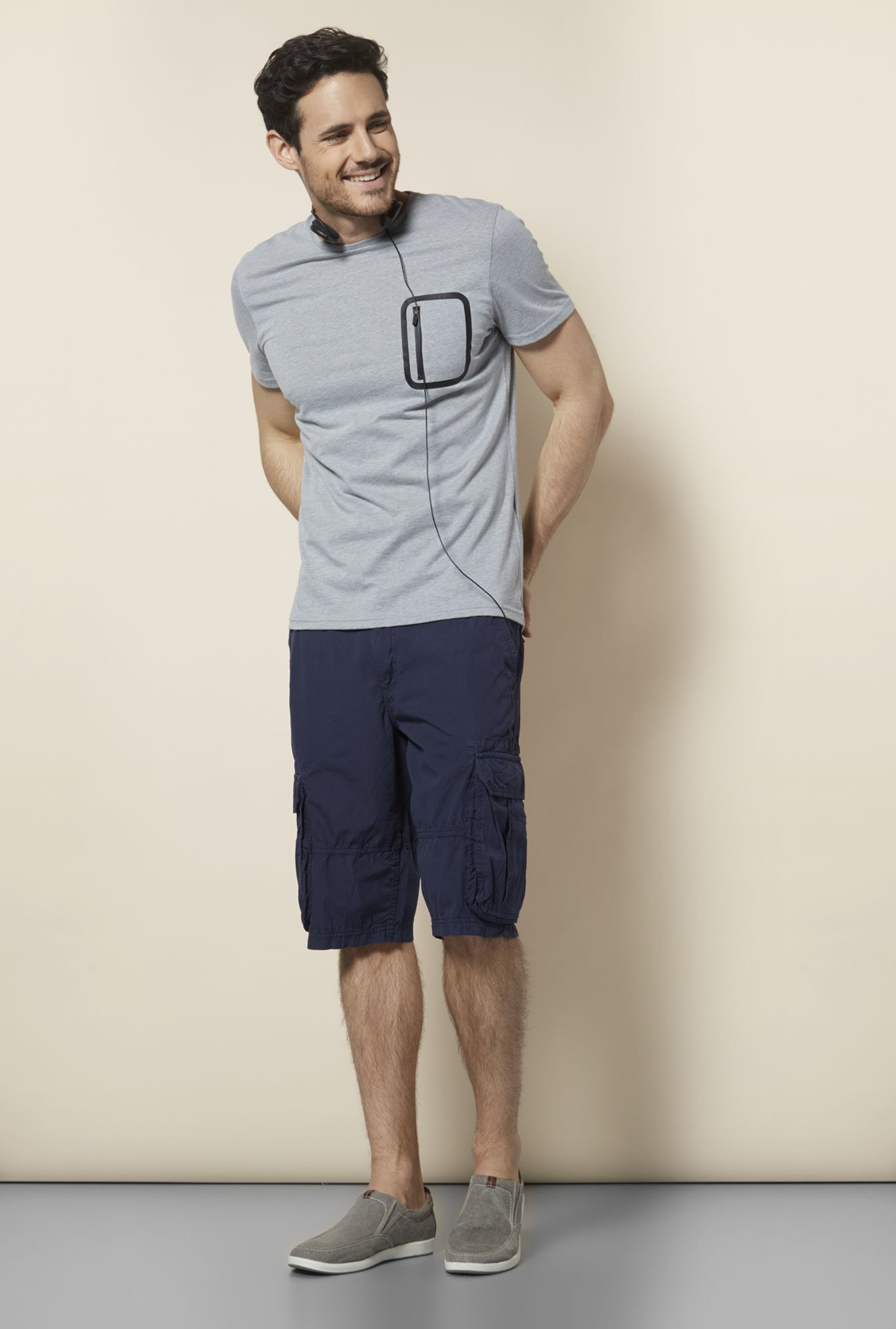 celio* Grey Regular Fit T Shirt
