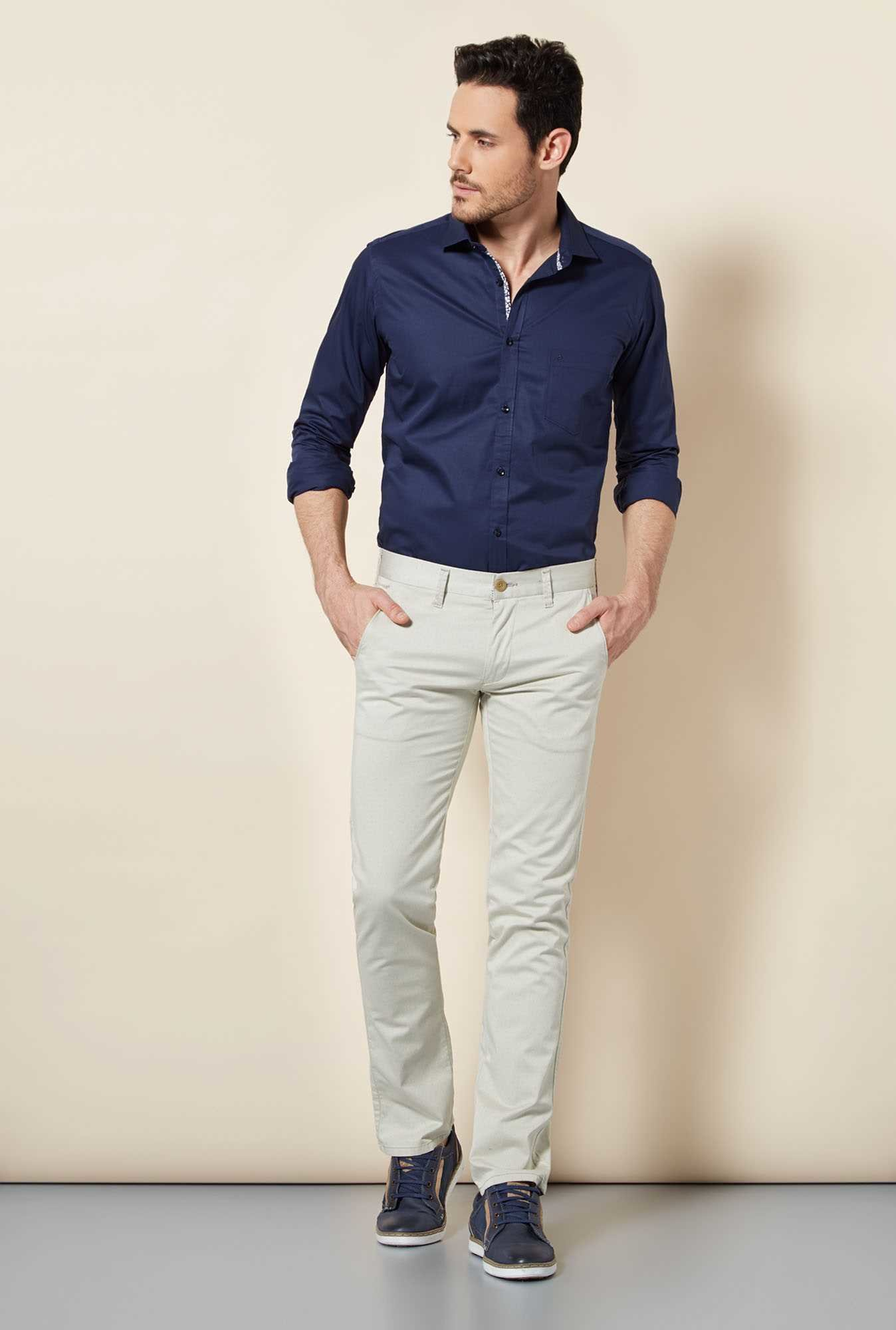 Easies Opal Blue Solid Shirt