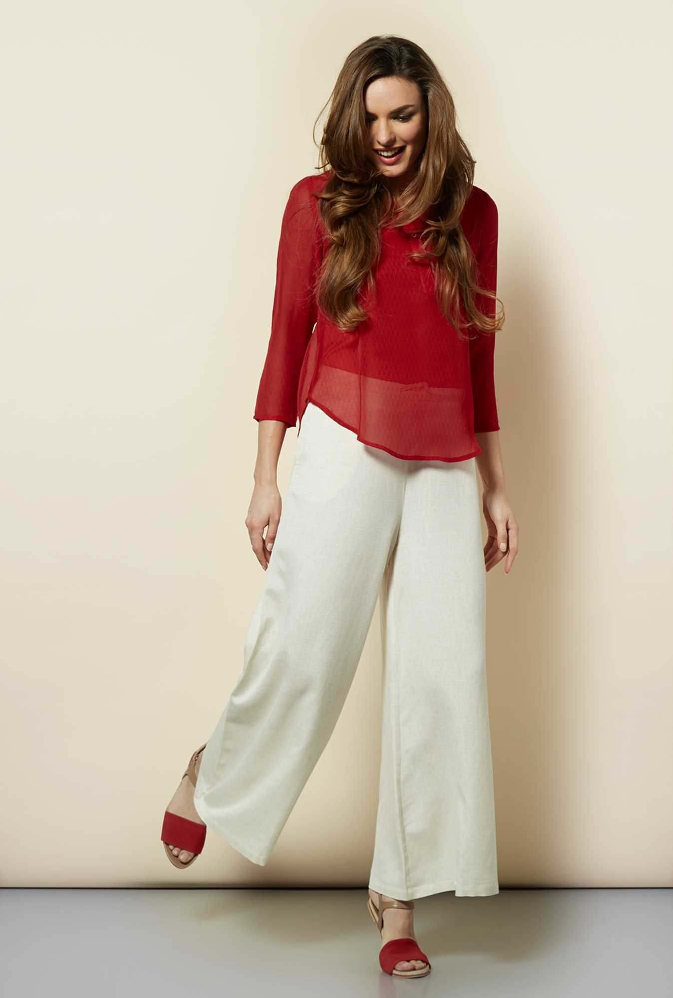 109 F Red Solid Top