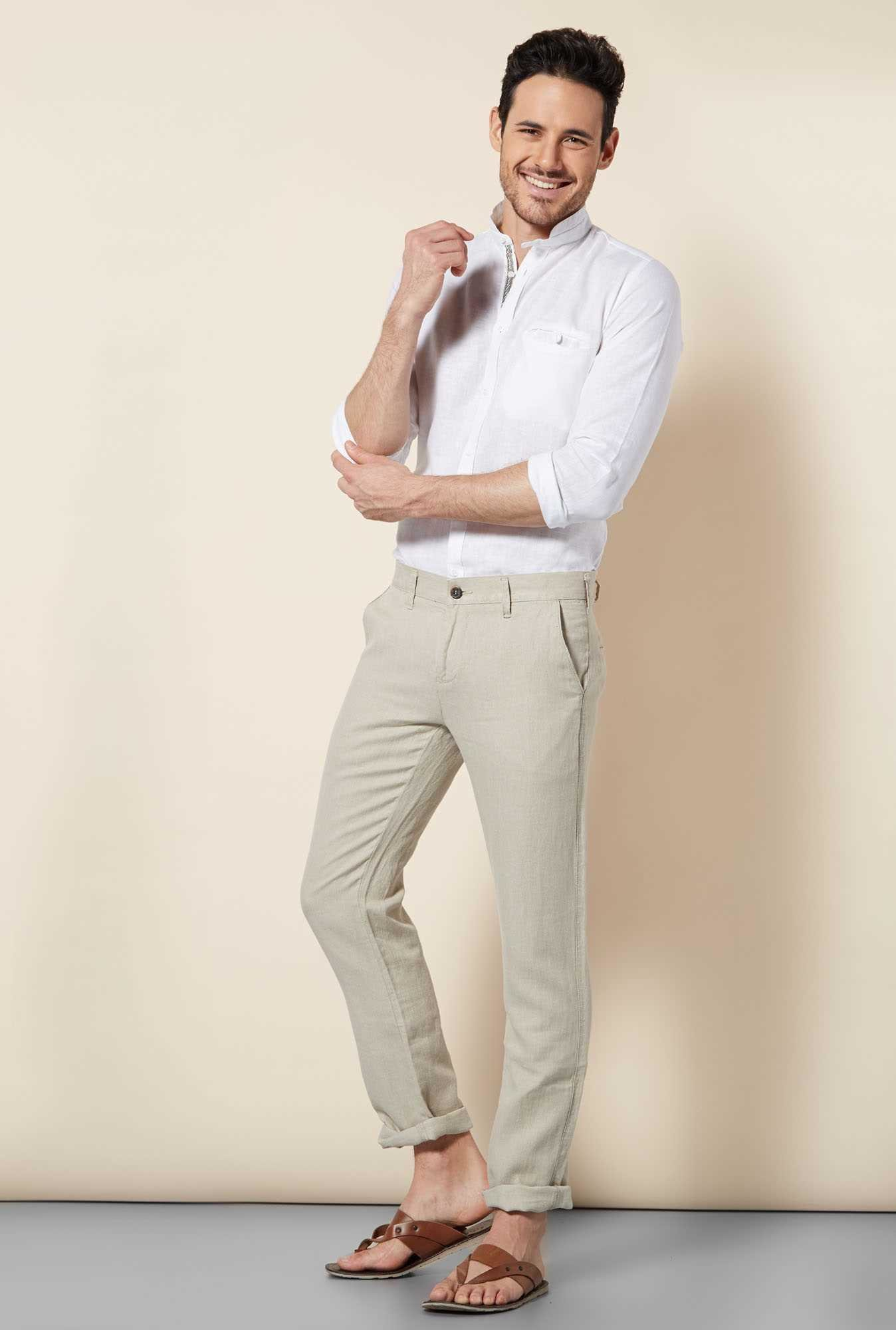 Easies Natural Slim Fit Trouser