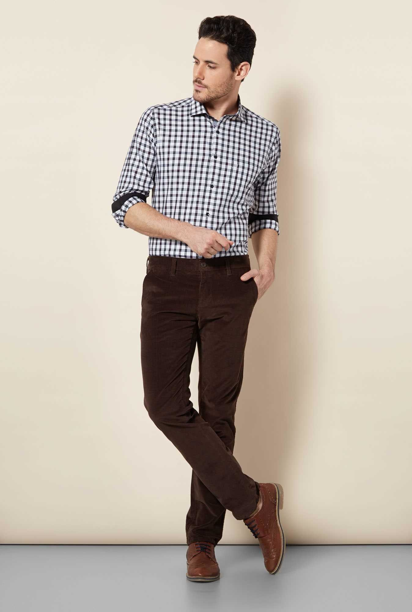 Easies Coffee Slim Fit Trouser