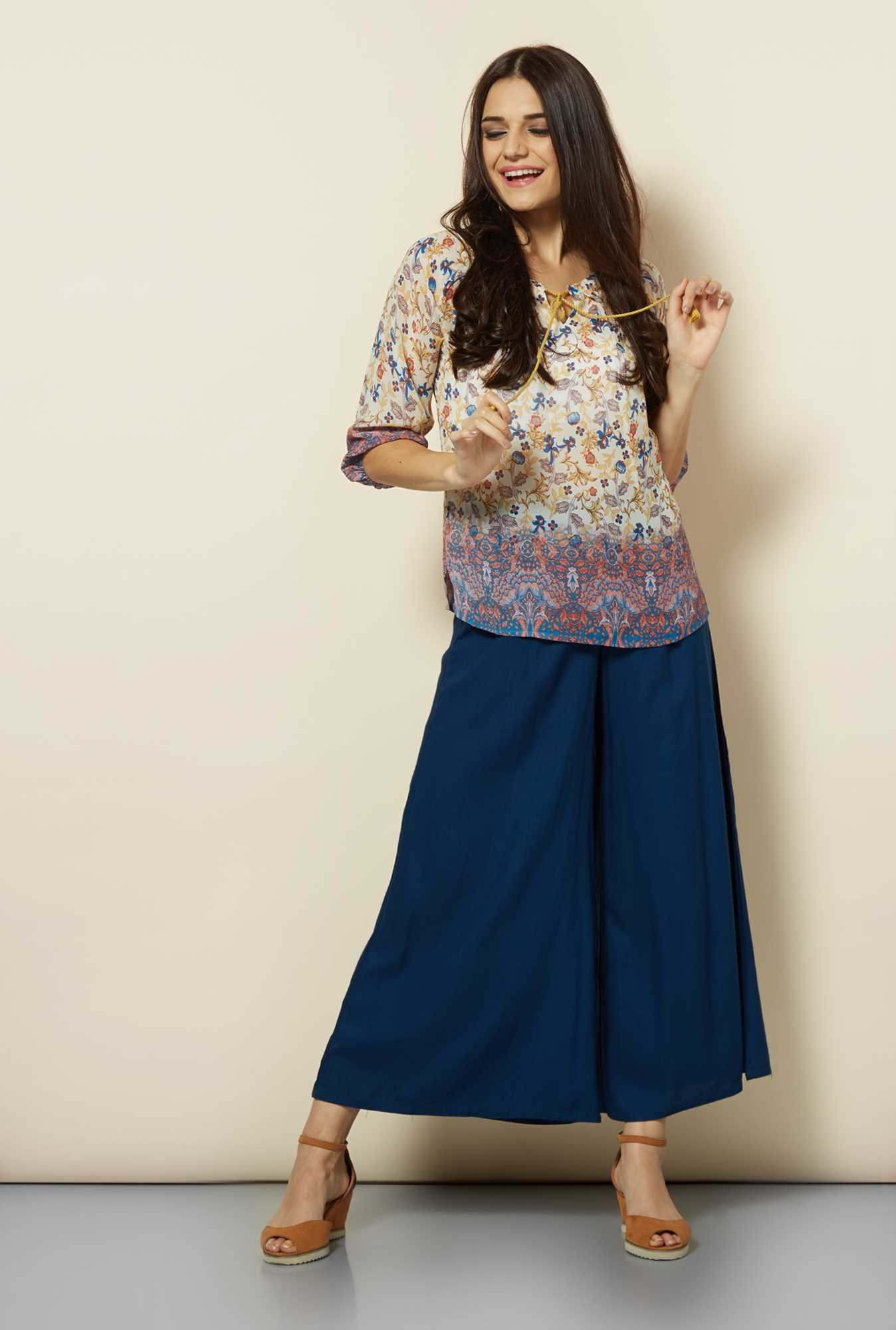 109 F Multicolor Paisley Printed Tunic