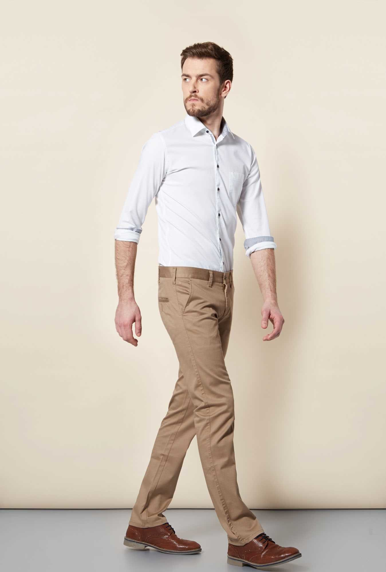 Easies White Slim Fit Shirt