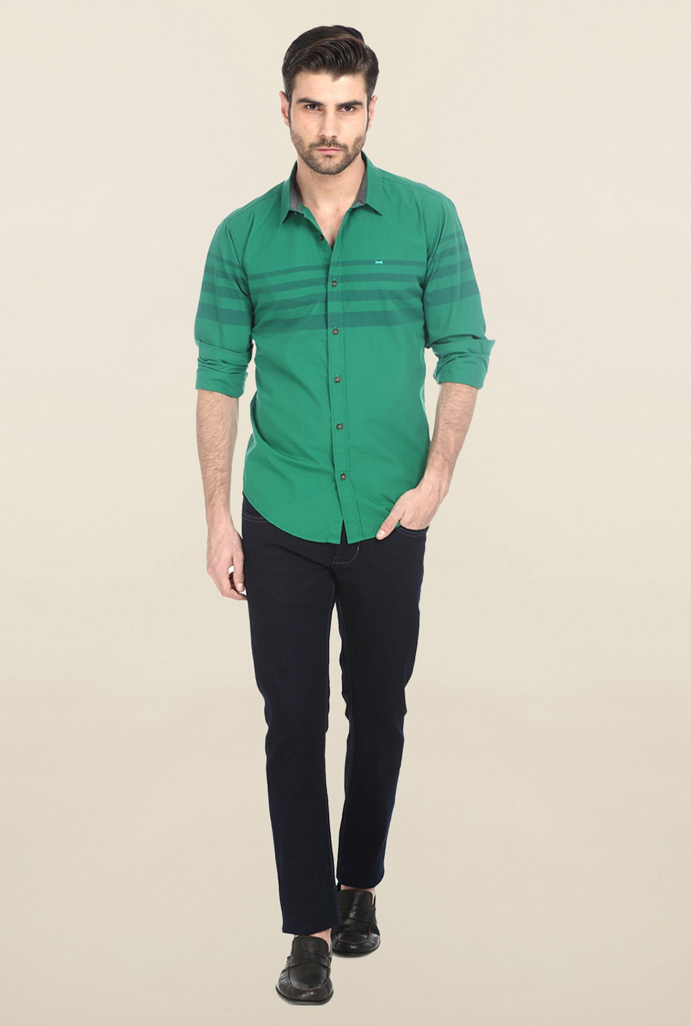 Basics Green Engineering Stripe Shirt