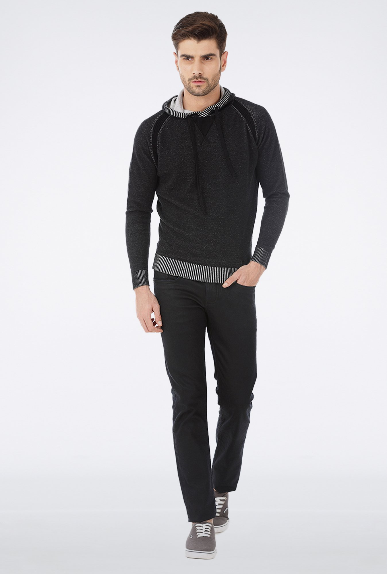 Basics Black Slim Fit Elastane Jeans