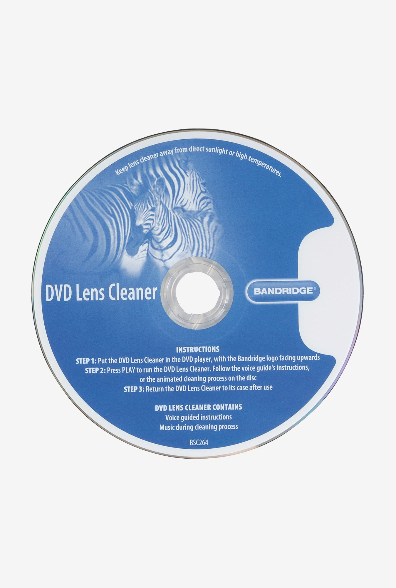 Bandridge BSC264 DVD Lens Cleaner Blue