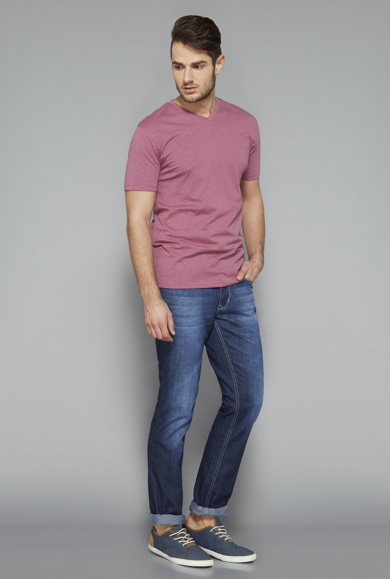 Westsport Purple V Neck T Shirt