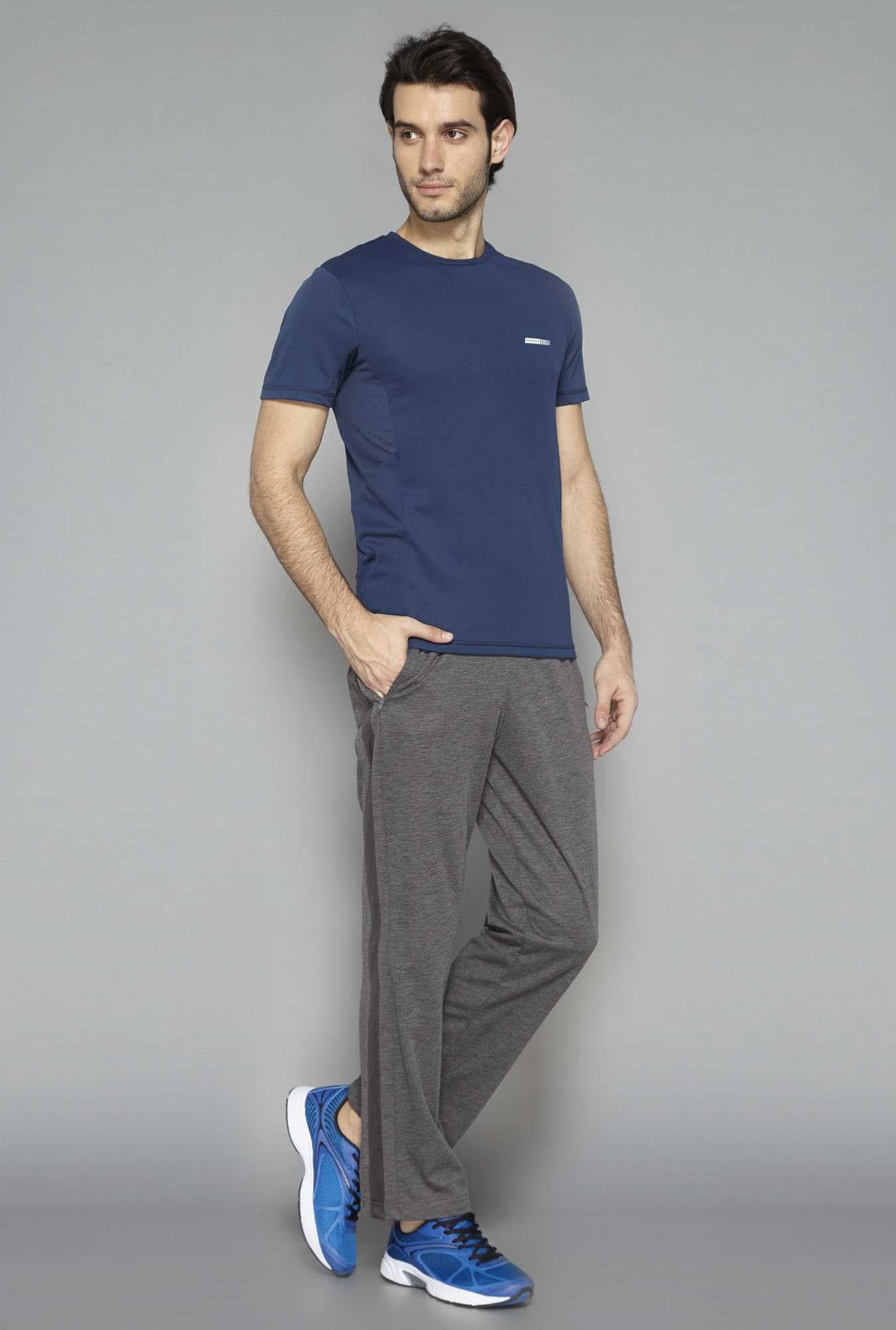 Westsport Active Anthra Solid Cotton Trackpant