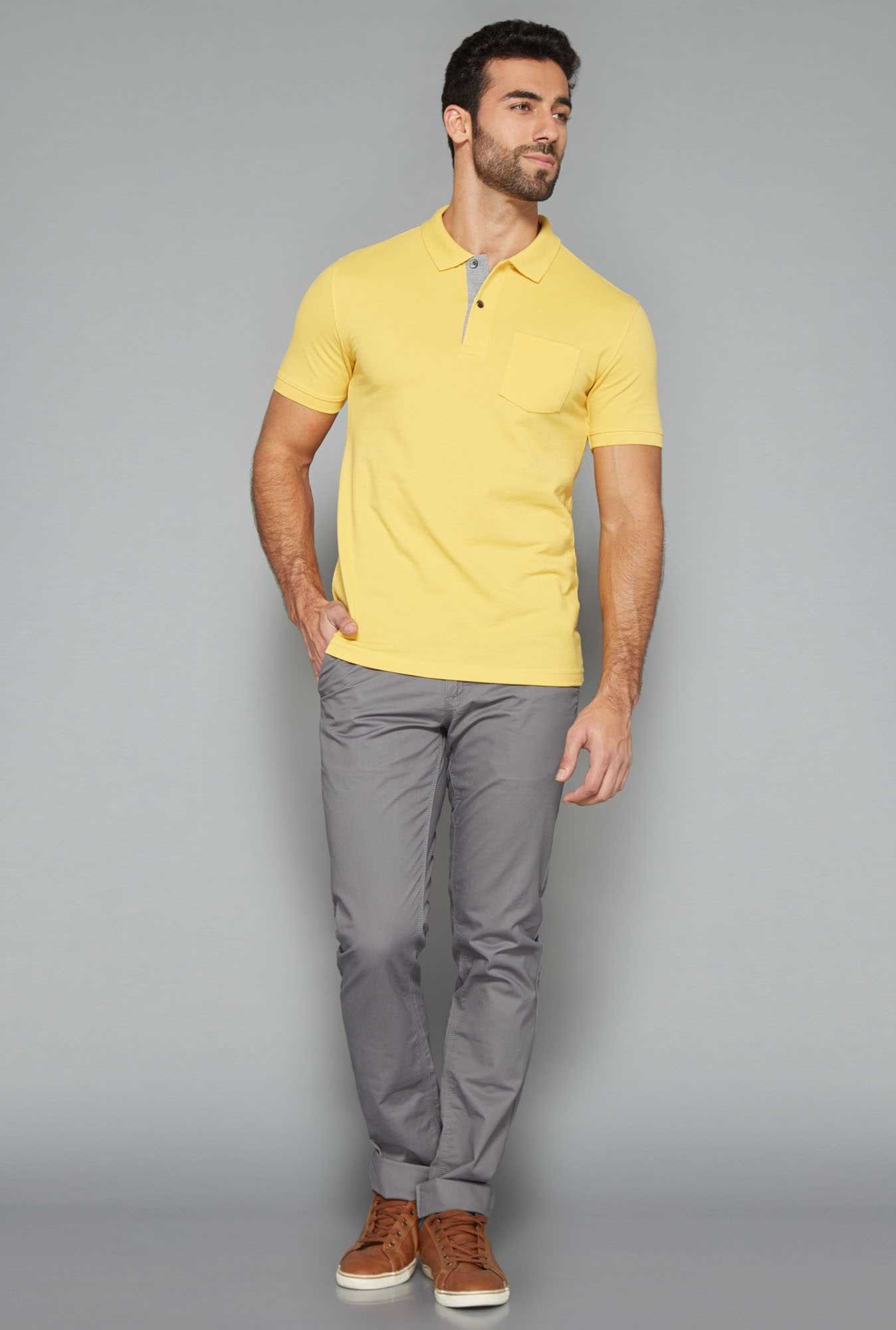 Westsport Mens Yellow Polo T Shirt