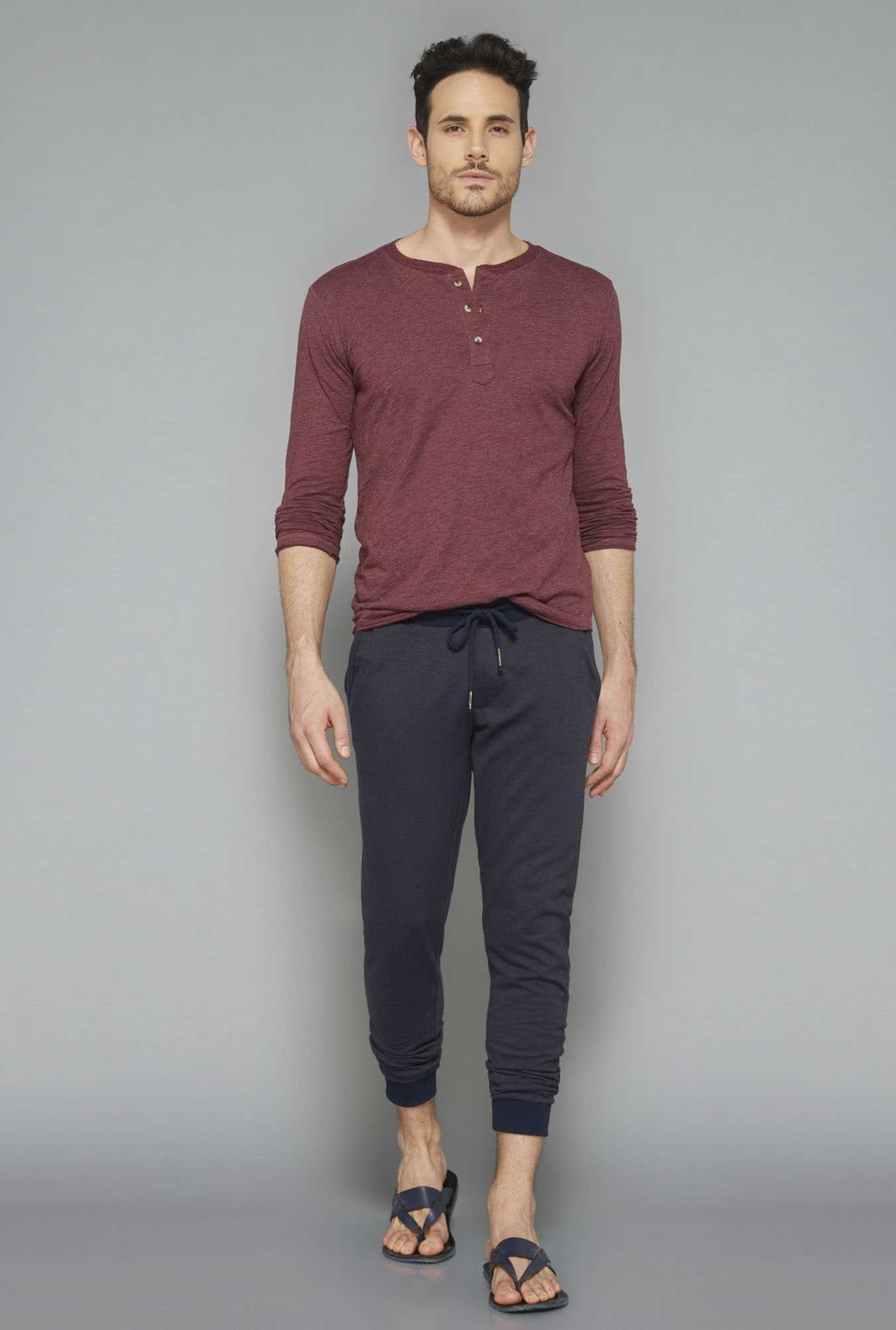ETA Wine Henley Cotton T Shirt