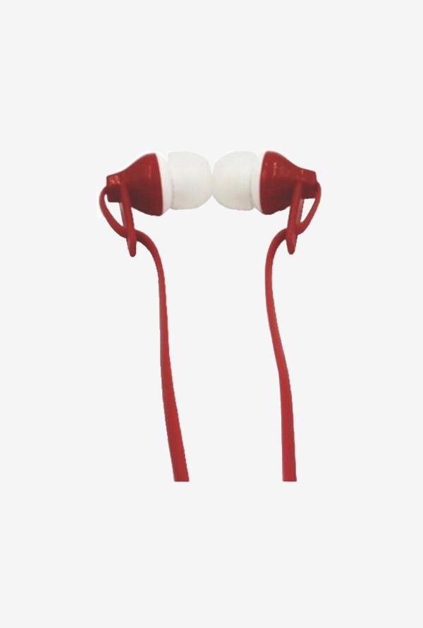 Digitek Stereo DE 105 In-Ear Headphone Red