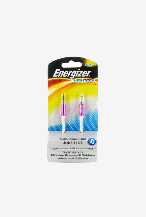 Energizer 1.5m LCAEHJACKPK2 Audio Stereo Cable Pink