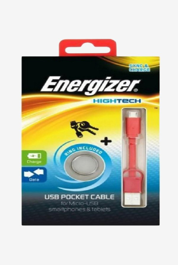 Energizer Mini USB POCKETMCRD2 Pocket Cable Red