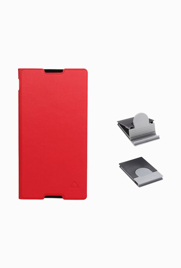 Stuffcool CRSYC3 Flip Cover for Sony Xperia C3/C3 Dual Red