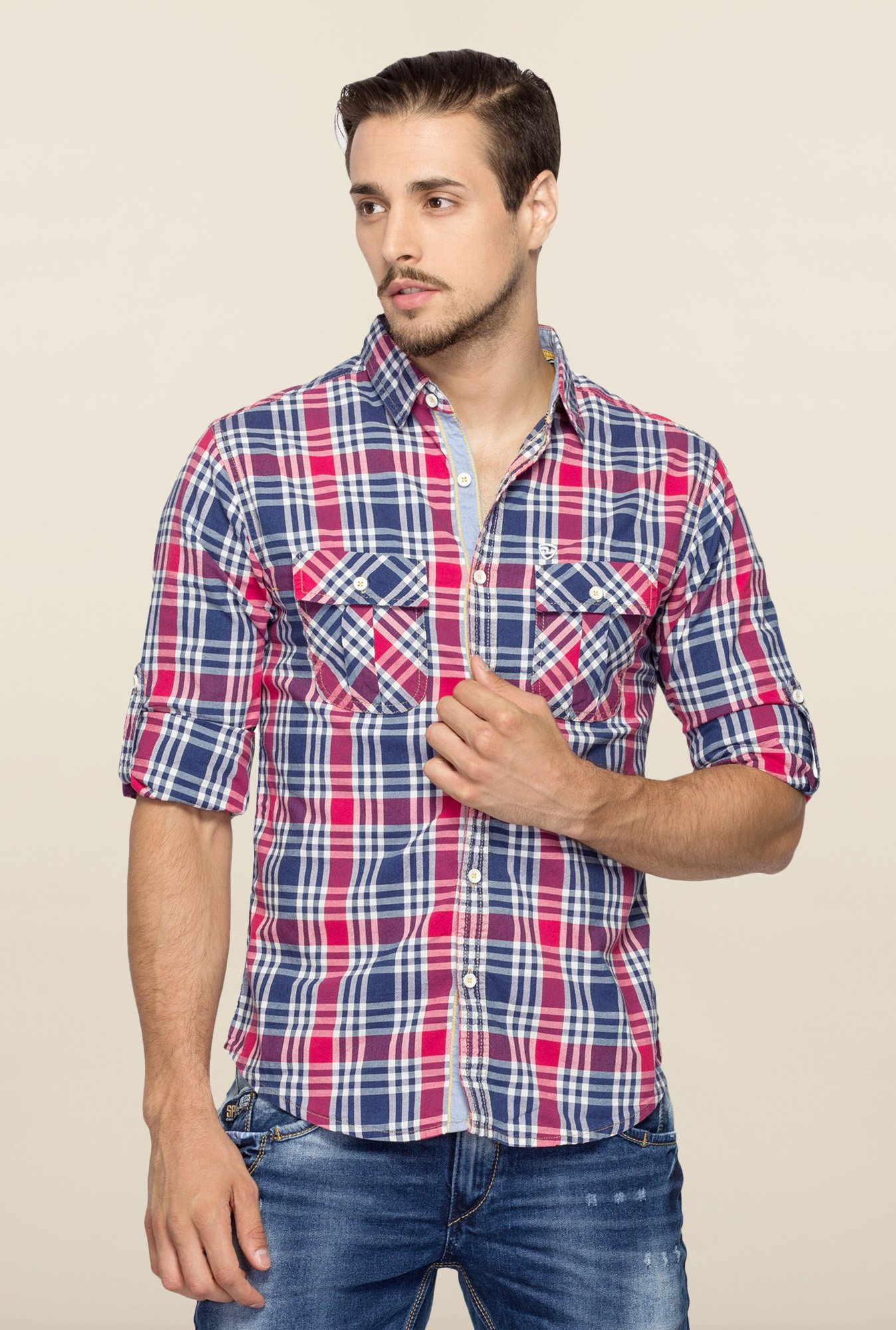 Spykar Multicolor Ranger Cotton Checks Shirt