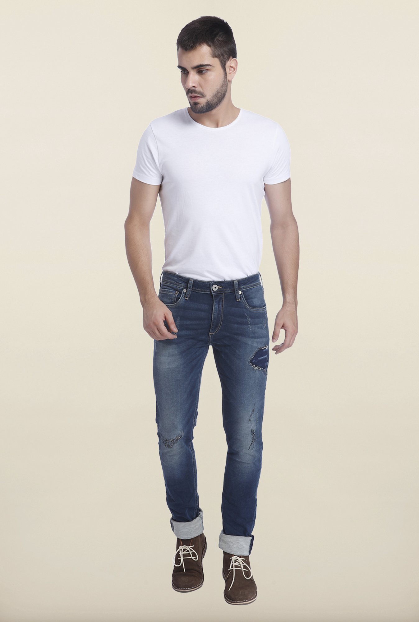 Jack & Jones Blue Ripped Ben Jeans