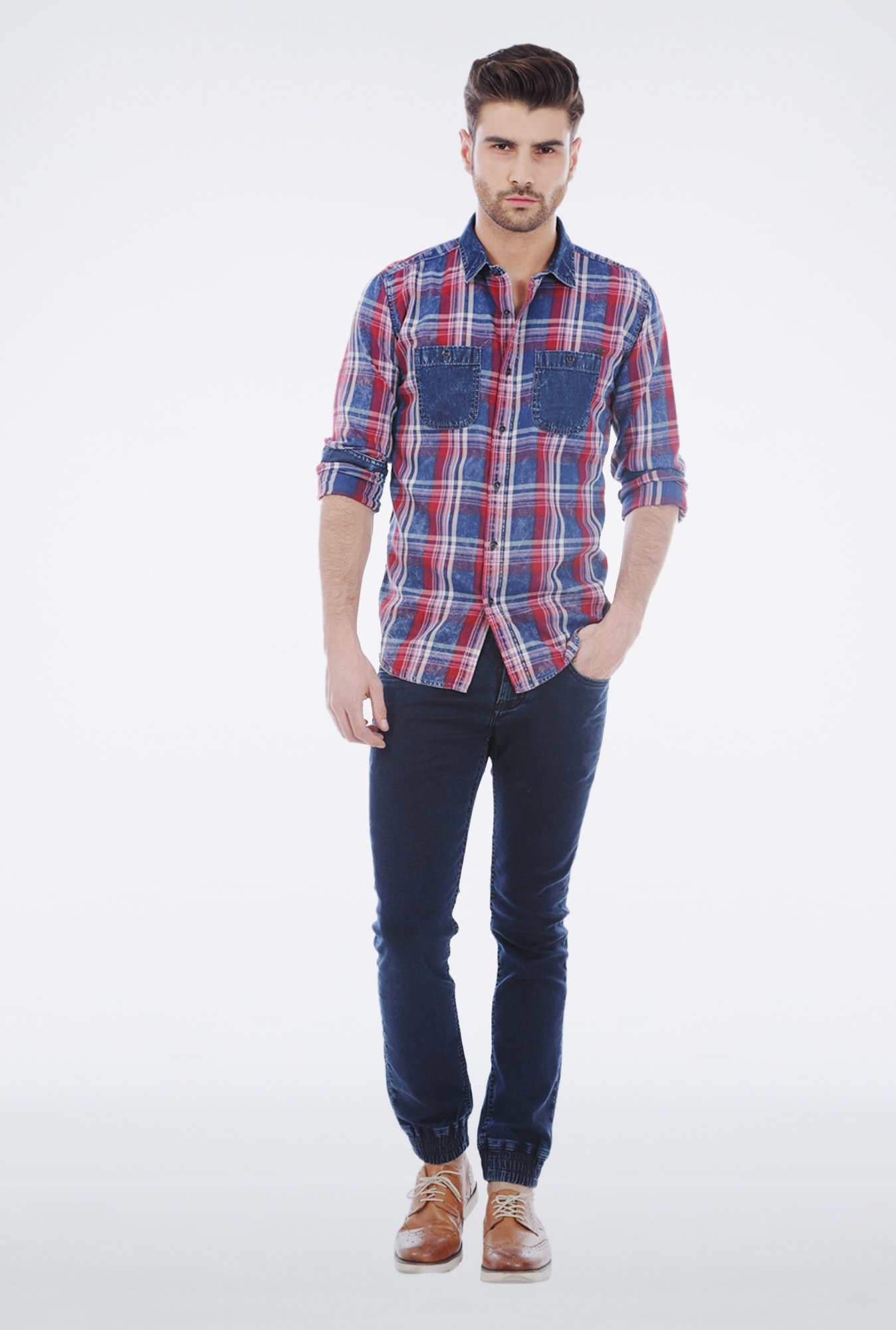 Basics Red Worn Out Shirt