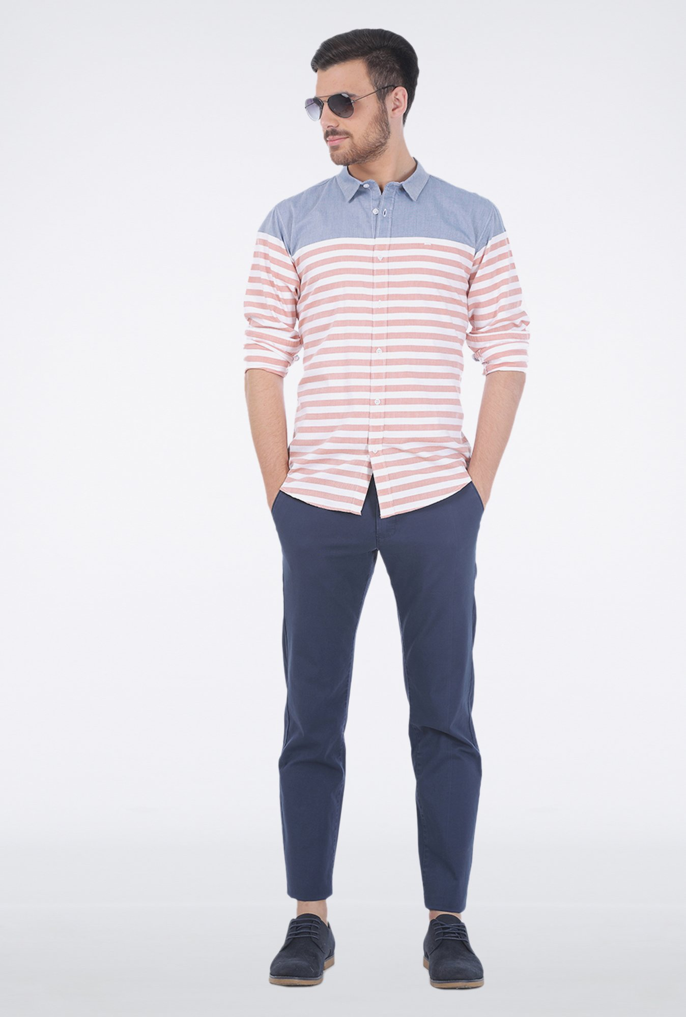 Basics Pink Stripe Shirt