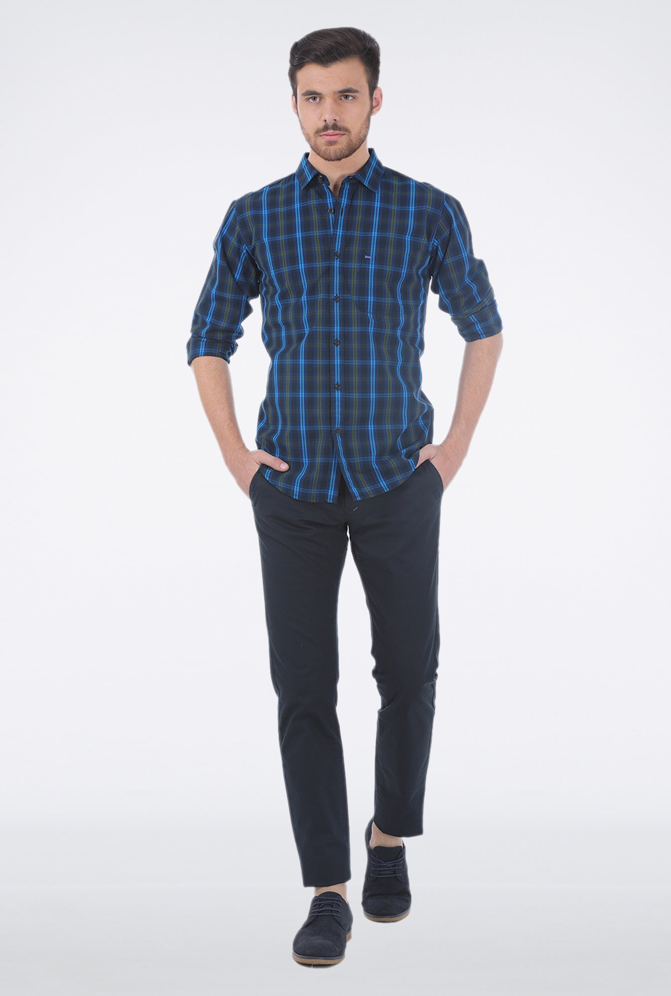 Basics Green Checkered Shirt