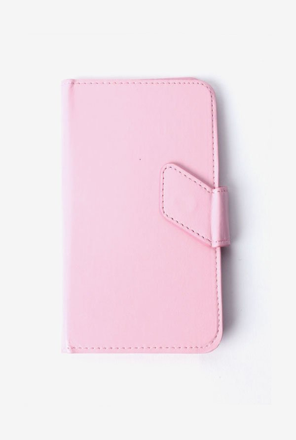 Callmate Stand Sticker Flip Cover Pink For Lava Iris 406Q