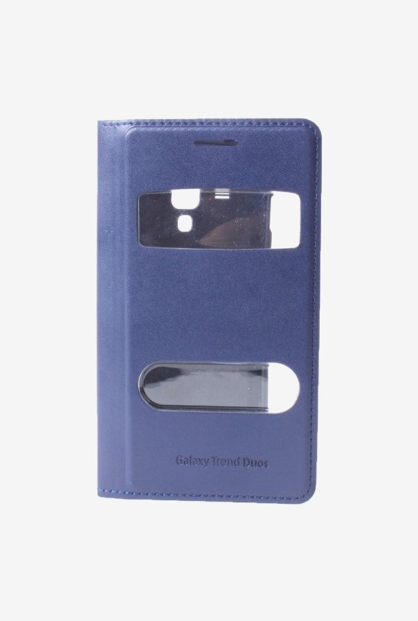 Callmate Window Flip Cover for Samsung 7562 Light Blue
