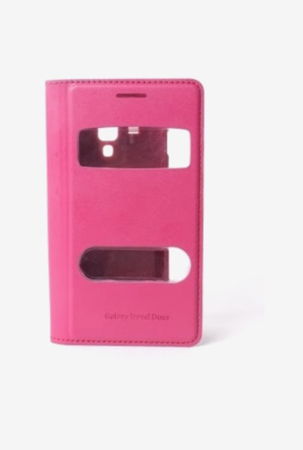 Callmate Window Flip Cover for Samsung 7562 Pink