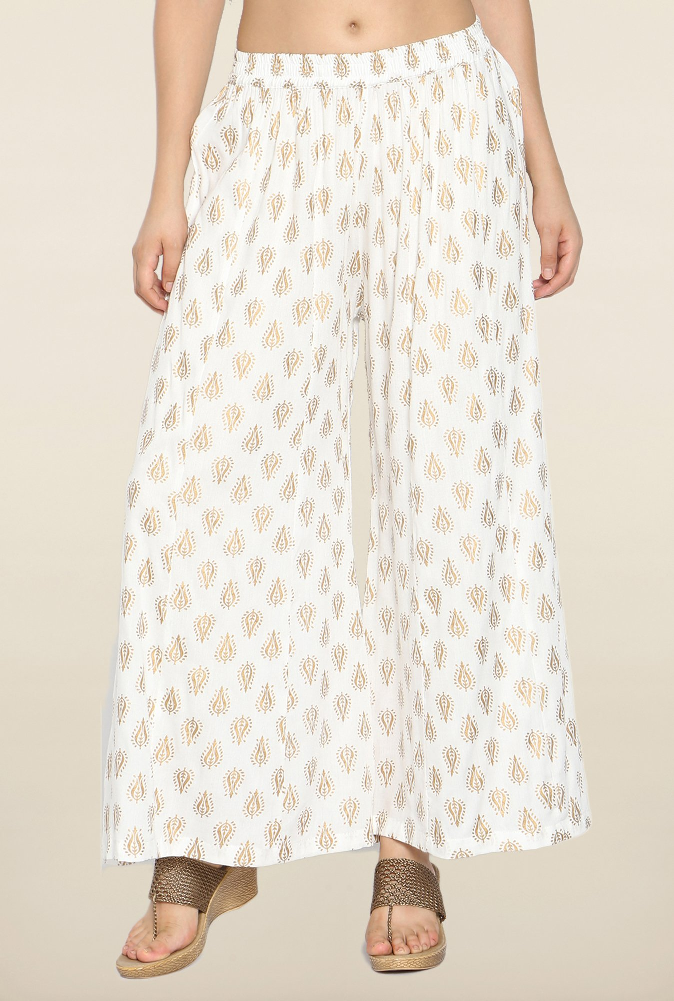 Soch Off White Printed Palazzo