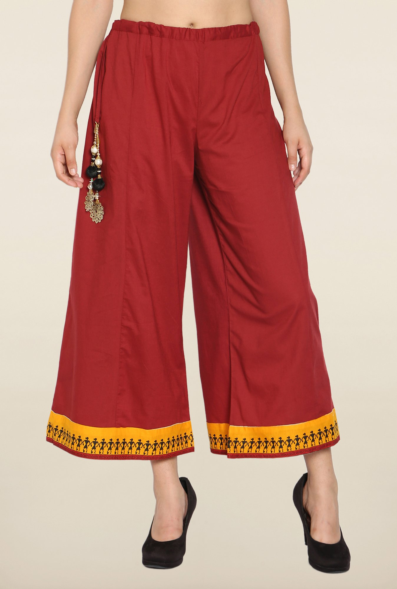 Soch Maroon Cropped Palazzo
