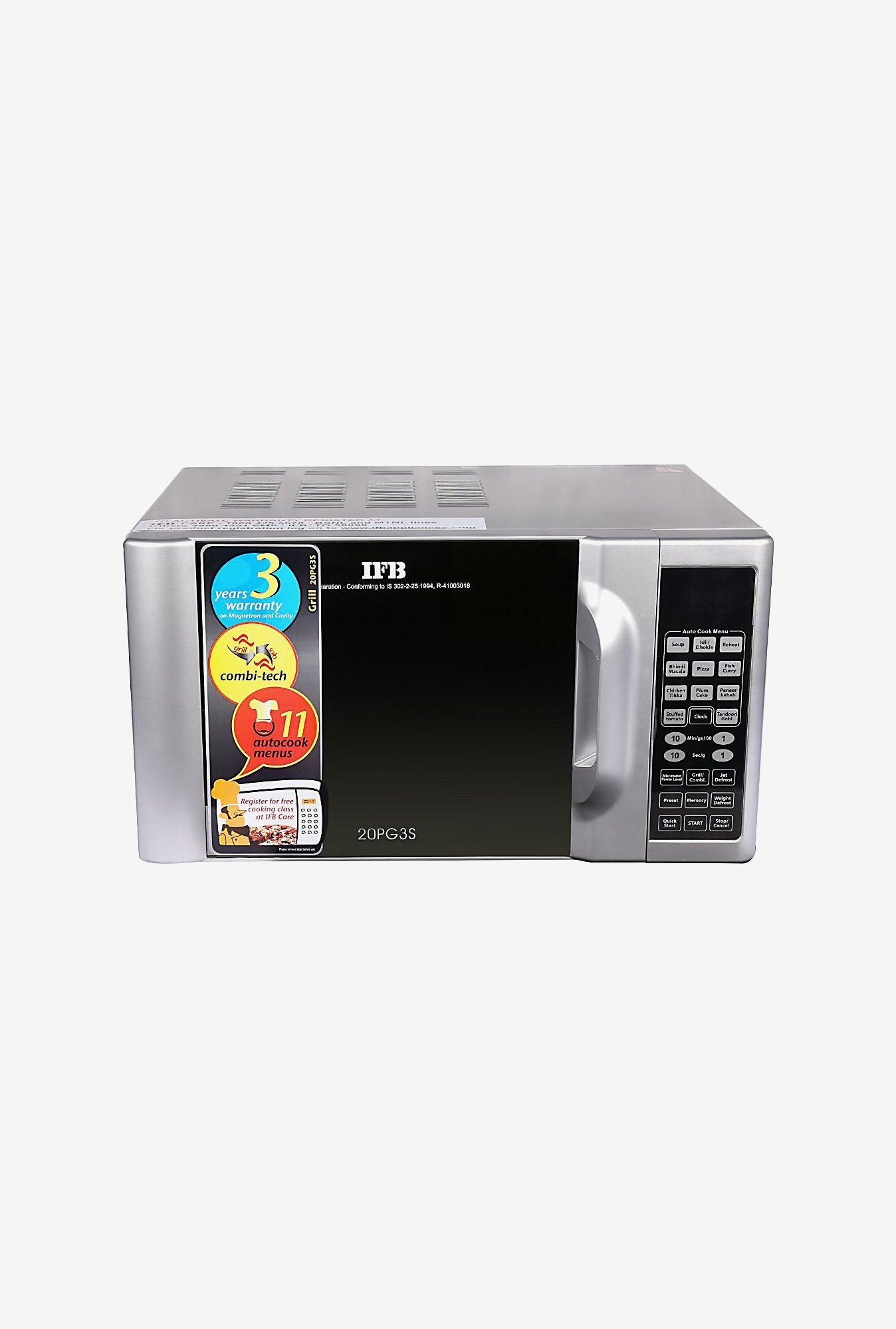IFB 20PG3S Grill Microwave Oven Silver