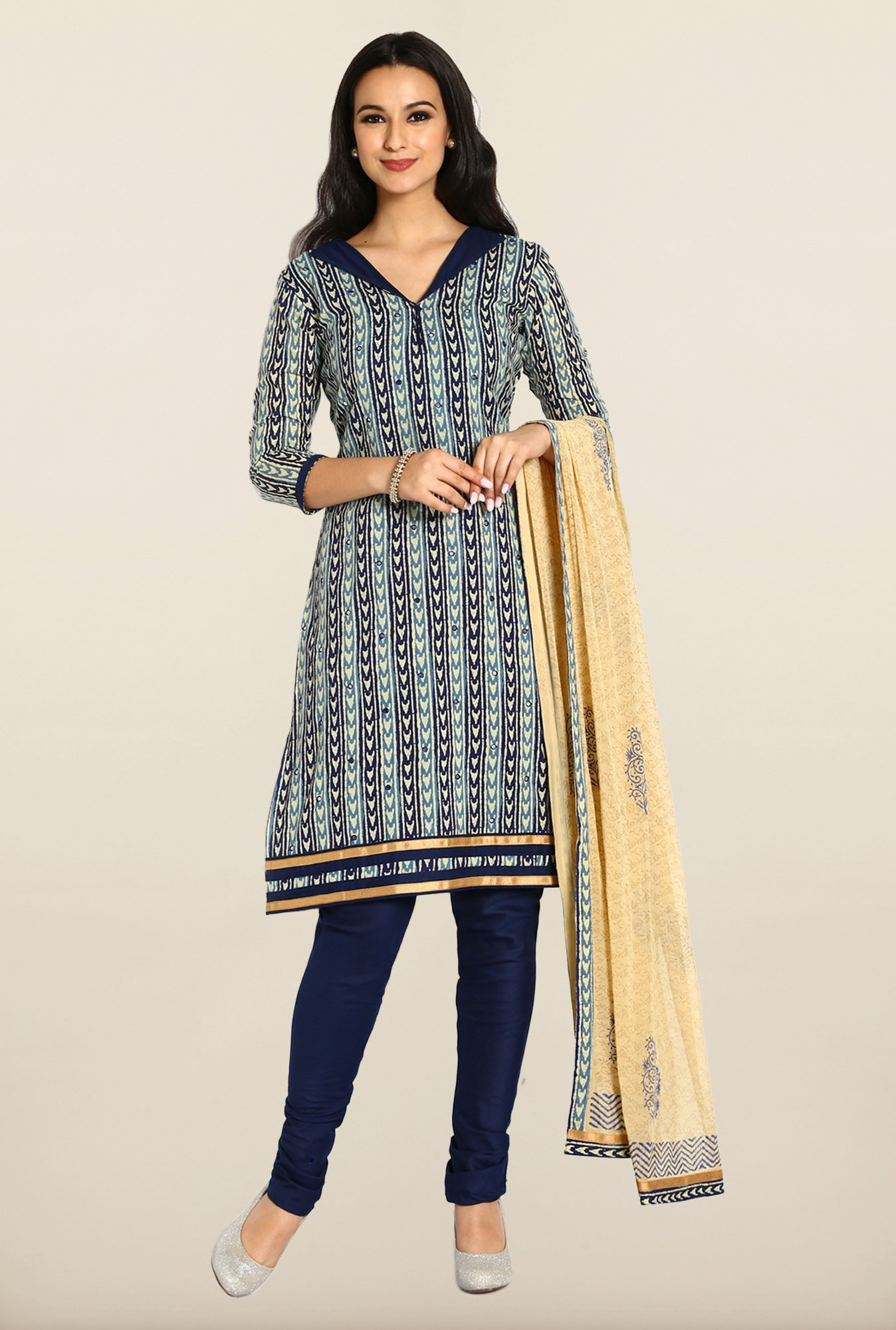 Soch Multicolor Printed Cotton Dress Material