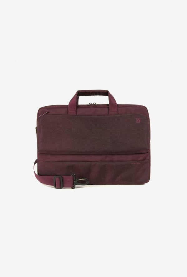 "Tucano BDR15BX 15.6"" Laptop Bag Burgundy"