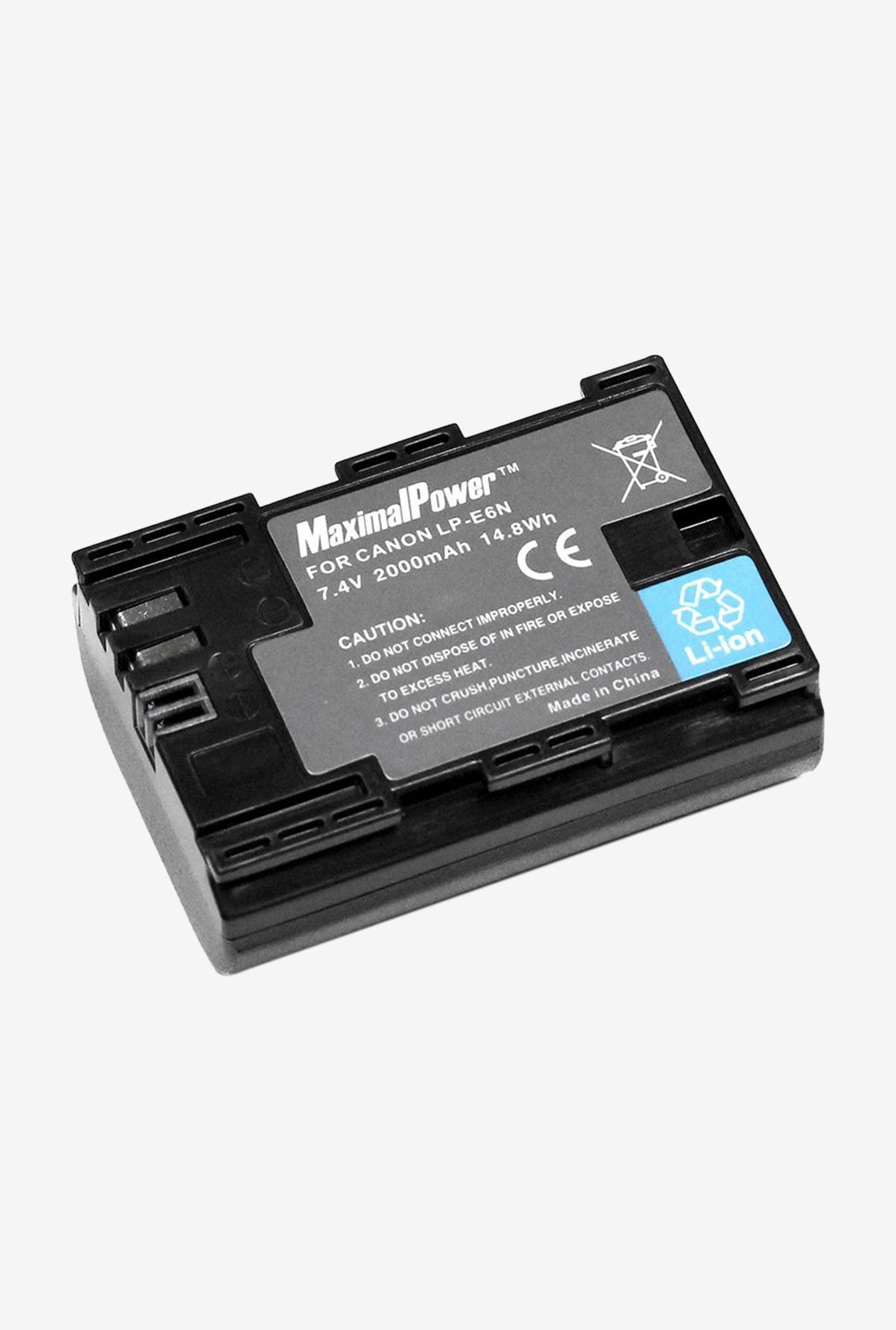 Maximal Power Db Can Lp-E6 Rechargeable Replacement Li-Ion Battery For Canon Cameras - Black