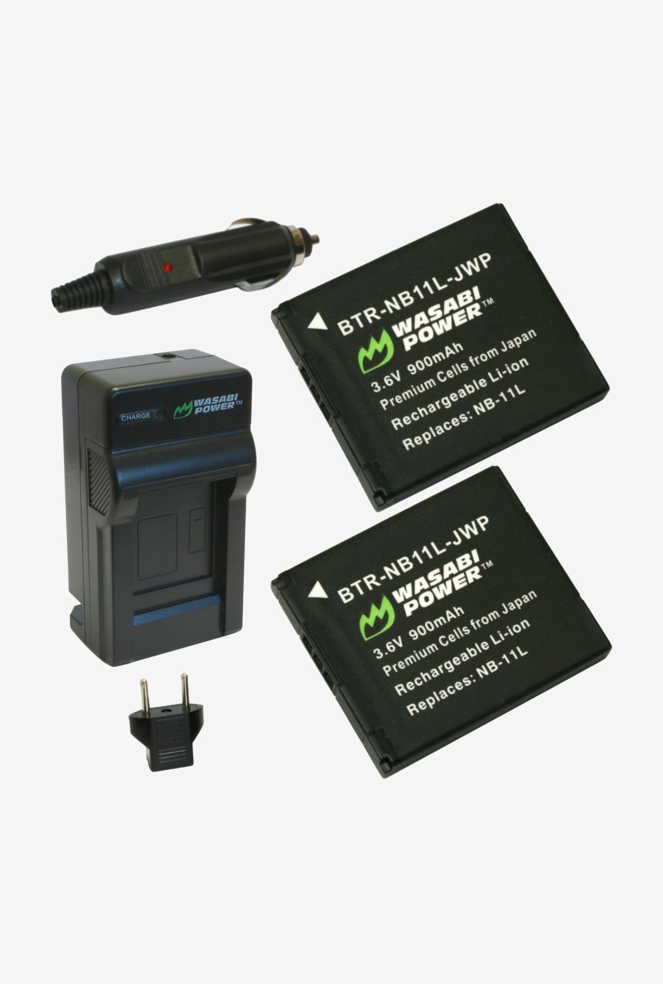 Wasabi Power Battery - 2-Pack And Charger For Canon