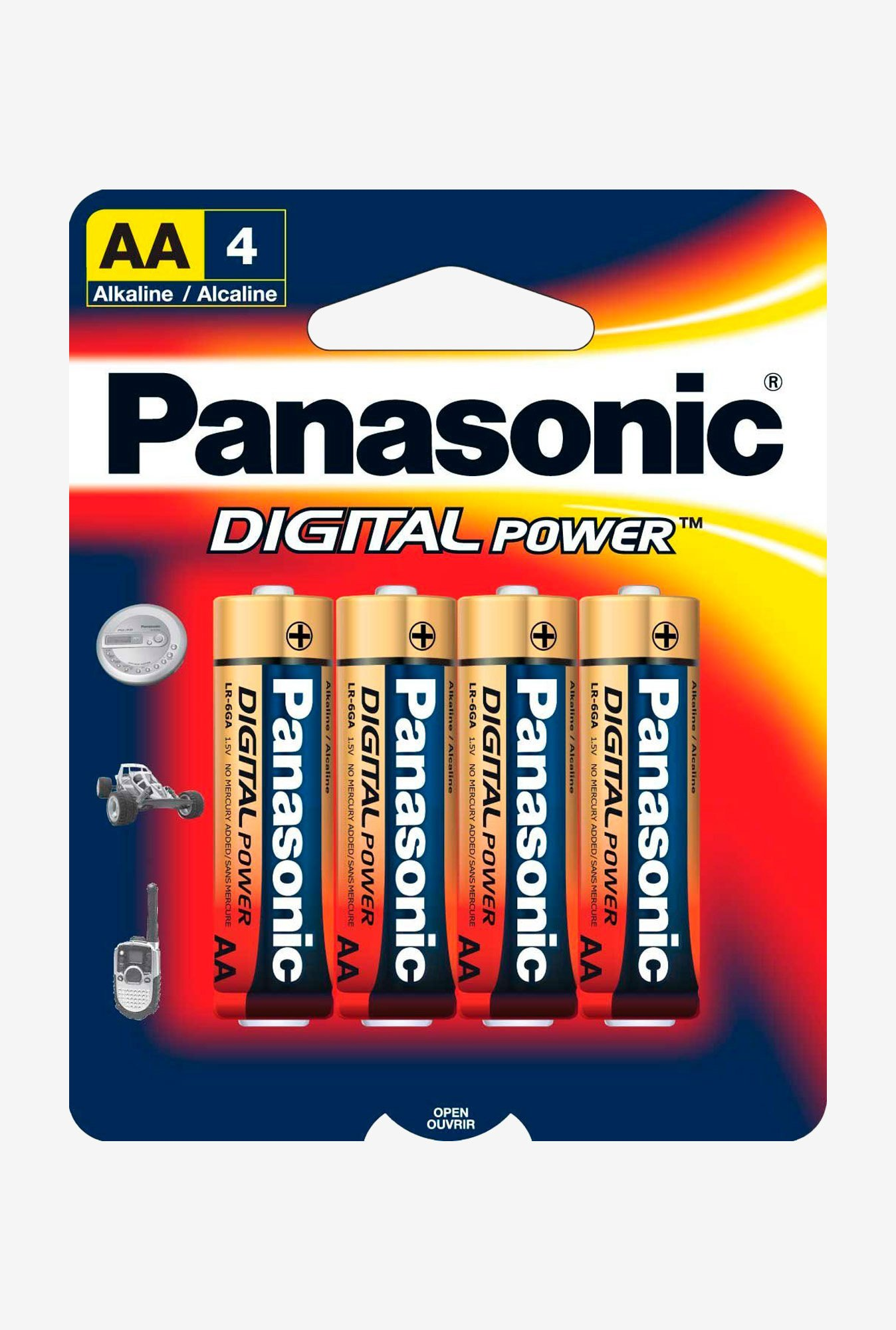 Panasonic Digital Power Lr-6Ga/4B Aa Alkaline Batteries - 4 Pack