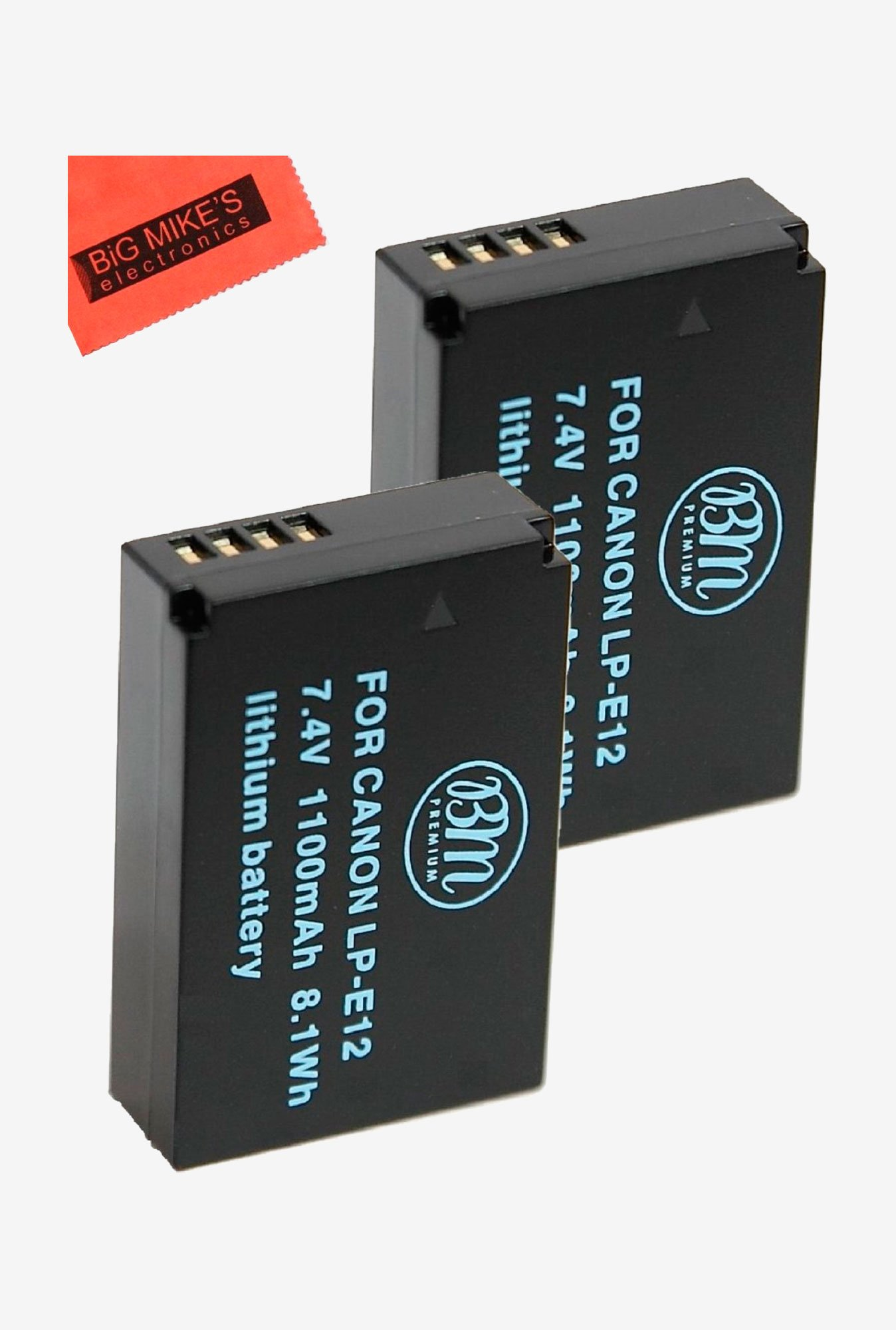 Lp-E12 Replacmenet Batteries For Canon Rebel Sl1, Eos-M Mirrorless Digital Camera + More - Pack Of 2